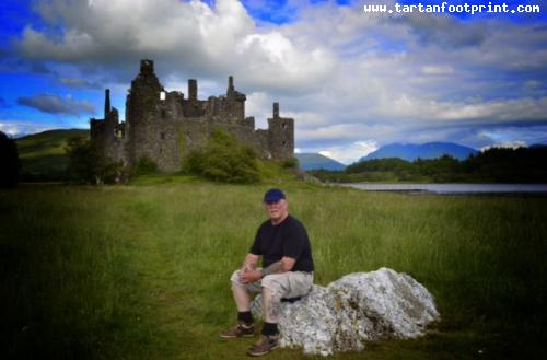 Having a well earned rest at Kilchurn Castle & Loch Awe