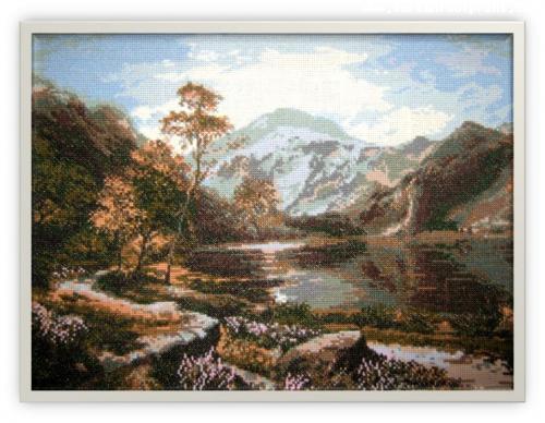 Loch Lomond.Cross-stitching